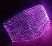 "LED Leucht-Maske ""ShinyMask"" / Fiberoptik LED Leuchtmaske, schwarz/multicolor"