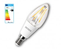NOSER LED E14 Kerze C35, klar, 4W, 450lm, warmweiss - 2700°K, Art. Nr. 448.04