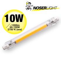 R7s LED 10W, ~1300lm, 220-240V, ~2700°K (ww)