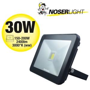 NOSER iLight LED Strahler 1x30W, schwarz, 2400lm, 3000°K, Art.-Nr. 01-430FB