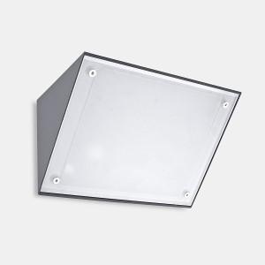Wandleuchte IP65 CURIE GLASS 260mm E27 60W anthrazit