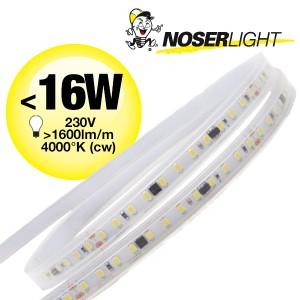 LED Strip 230V, 4000K, kaltweiss, IP65, <16W/m, 1600-1750lm/m, CRI>80