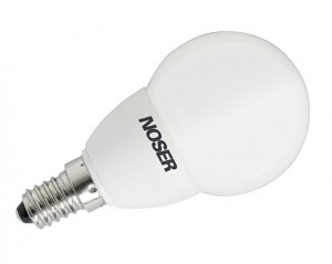 NOSER LED E14 G50 Tropfenlampe, 1W, 240V, warmweiss (ww), IP44