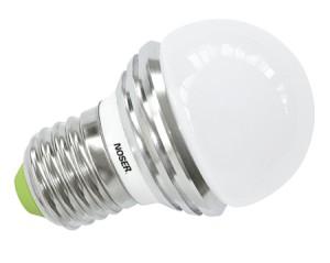 NOSER LED E27 Tropfenlampe G45, IP44, 3W, ROT