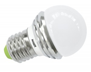 NOSER LED E27 Tropfenlampe G45, IP44, 3W, GRÜN