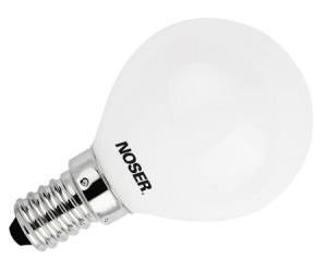 NOSER LED E14 Tropfenlampe G45, opal, 2.5W, >250lm, warmweisses Licht