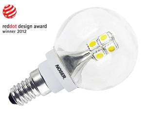 NOSER-LED G45 Tropfenlampe, klar, E14, 2W, 200lm, warmweiss