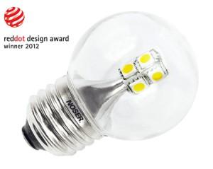 NOSER LED E27 Tropfenlampe G45, klar, E27, 2W, 250lm, warmweiss
