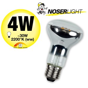 NOSER LED-R63, 240V, E27, 4W, dimmbar, 360°, 2700°K warmweiss, Art. 220.04