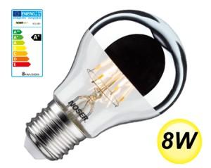 NOSER LED Standard-Kopfspiegel A60, E27, 8W, 800lm, warmweiss - 2700°K