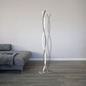 LED Stehleuchte SEGURA - schwungvolles Design nickelfarbig eloxiert