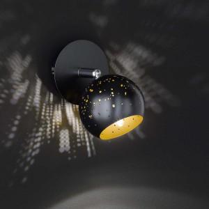 LED Spotleuchte PILAR 1flg schwarz/gold