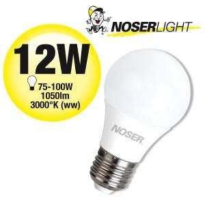 NOSER LED A60 matt, E27, 12W, 1050lm, 270°, 3000°K, CRI80, Art. Nr. 419.0121