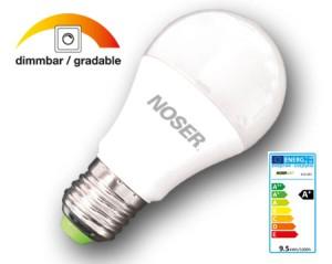 NOSER LED A60 matt, E27, 9W, 806lm, 270°, 2700°K, CRI>80, Art. Nr. 419.092