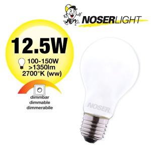 NOSER LED A60 matt, E27, 12W, 1350lm, 200°, 2700°K, CRI>80, Art. Nr. 419.121