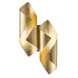 LED Decken- / Wandleuchte SAFIRA - goldenes Lichtelement für Wände und Decken