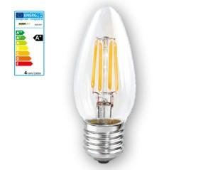 NOSER LED E27 Kerze C35, klar, 4W, 350lm, warmweiss - 2700°K, Art. Nr. 448.042
