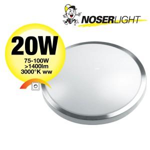 LED Deckenleuchte / Wandleuchte dimmbar, rund, 410mm, 20W, warmweiss