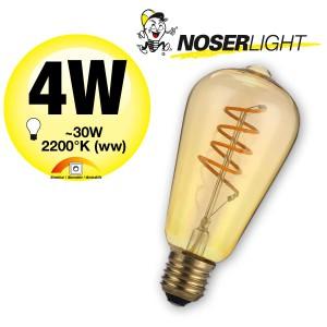NOSER Filament LED ST64, goldgelüstert, E27, 5W, 170lm, warmweiss 2200°K, Art. 551.05