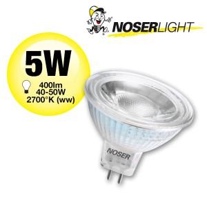 NOSER MR16-LED, 12V, 5W, 400lm/1170cd, 38°, 2700°K