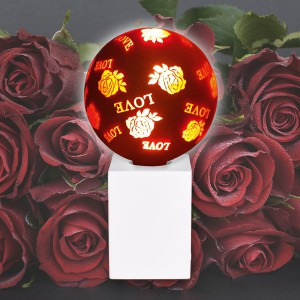 NOSER Filament Deko LED G125, Romantik (Rose & Love)
