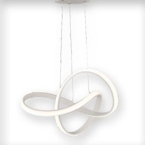 LED Pendelleuchte INDIGO - ausgefallenes, rundes Design in weiss