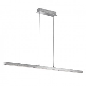 LED Pendelleuchte LEVI - gradliniges Design chrom Diamanteffekt