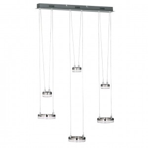 LED Pendelleuchte MASON - 6 Elemente doppelt beleuchtet