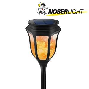 LED Solar Gartenleuchte schwarz mit Flammeneffekt, Art.-Nr. 7500S