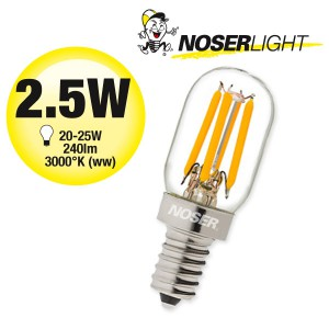 NOSER-MINI LED  - LED-Birnenlampe, 2.5W,  220-240V, 240lm, warmweiss (ww), Art.-Nr. 800.025