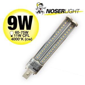 NOSEC-S/E LED, G23, 9W, >800lm, 4000°K, 240V, klar