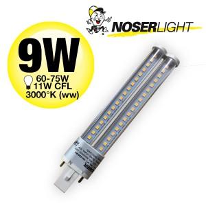 NOSEC-S/E LED, G23, 9W, >800lm, 3000°K, 240V, klar
