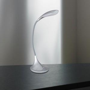 LED Tischleuchte YON - harmonisch lebendige Optik in silber
