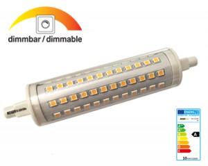 R7s LED 10W, 980-1000lm, 85~265V, 2700°K (ww) DIMMBAR