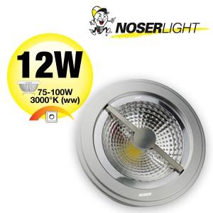 LED AR111 Alu-Reflektor, G53, 12W, 12V, 40°, dimmbar, Art.Nr. 836.1312WWD