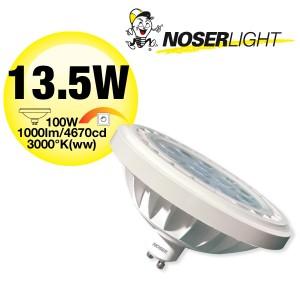 LED AR111 Reflektor, GU10, 13.5W, 240V, 30°, dimmbar, Art.-Nr.: 836.14
