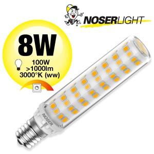 NOSER Mini LED, E14, 8W, 230V, 3000°K, warmweiss