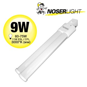 NOSEC-S/E LED, G23, 9W, >800lm, 3000°K, 240V, Art.-Nr.: 880.09WW
