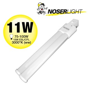 NOSEC-S/E LED, G23, 11W, >990lm, 3000°K, 240V, Art.-Nr.: 880.11WW