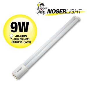NOSEC-L/LED, 2G11, 9W, ~960lm, 3000°K, warmweiss