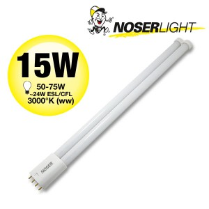 NOSEC-L/LED, 2G11, 15W, ~1600lm, 3000°K, warmweiss