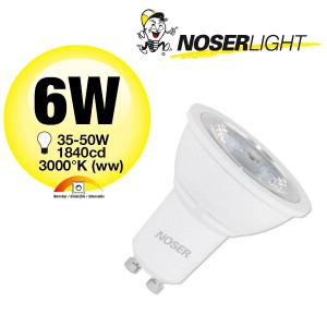 NOSER LED, GU10, 6W, 500lm/1460cd, 3000°K, dimmbar