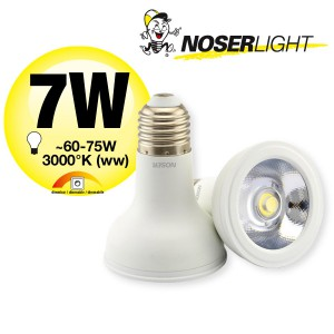NOSER High Performance LED-PAR20, 7W, 45°, IP20, warmweiss, semi-dimmbar,                                             Art.-Nr. 8840.071