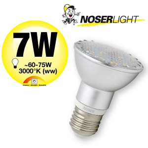 NOSER High Performance LED-PAR20, 7W, 120°, IP44, warmweiss, dimmbar, Art.-Nr. 8840.07