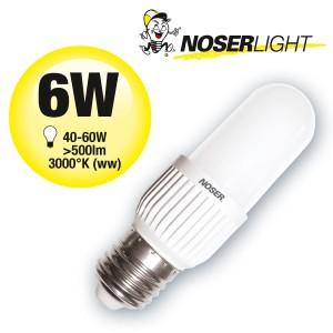 LED NOSEC-E E27, 6W, >500lm, 830/3000°K