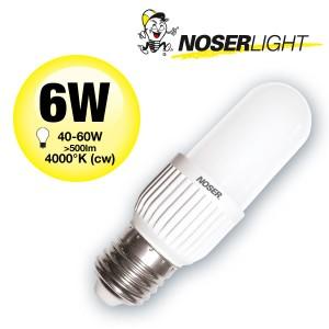 LED NOSEC-E E27, 6W, >500lm, 840/4000°K