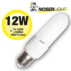 LED NOSEC-E E27, 12W, >1000lm, 830/3000°K