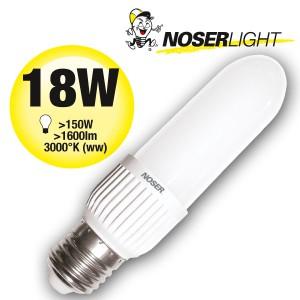 LED NOSEC-E E27, 18W, >1600lm, 830/3000°K
