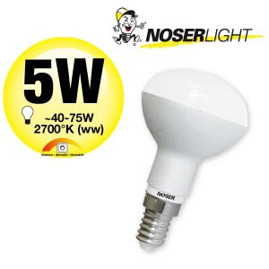 NOSER LED-R50, 240V, E14, 5W, dimmbar, 180°, 2700°K, Art. Nr. 926.051