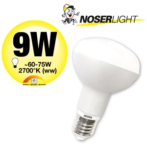 NOSER LED-R80, 220-240V, E27, 9W, dimmbar, 180°, 2700°K, Art. Nr. 926.091